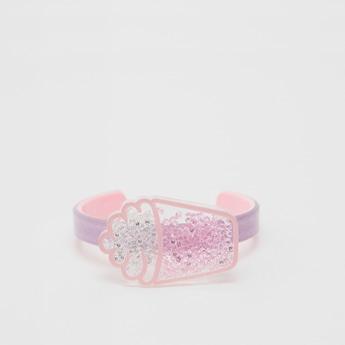Ice-Cream Applique Detail Open-Cuff Bracelet