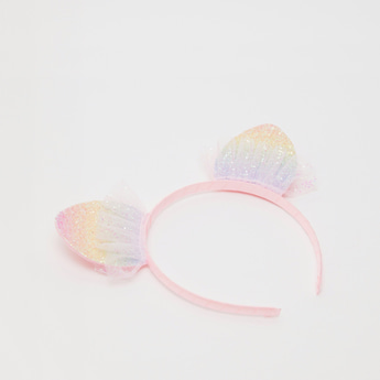 Cat Ears Glitter Applique Hairband