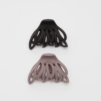 مشابك شعر متعددة التصاميم - طقم من قطعتين