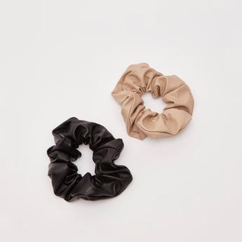 ربطة شعر مستديرة بارزة الملمس- طقم من قطعتين