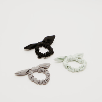 Set of 3 - Bow Applique Detail Hair Ties
