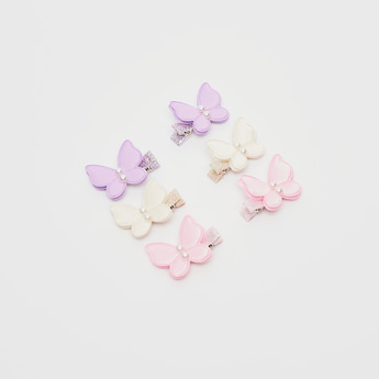 Set of 6 - Butterfly Shaped Hair Clip