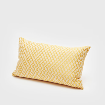 Patterned Rectangular Filled Cushion - 50x30 cms