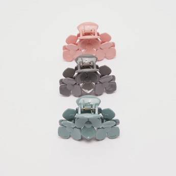 Pack of 3 - Solid Patterned Hair Clamp