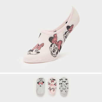 Pack of 3 - Minnie Mouse Print Footies