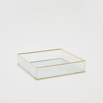 Decorative Square Tray with Gold Rim