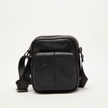 Crossbody Bag with Adjustable Strap and Zip Closure