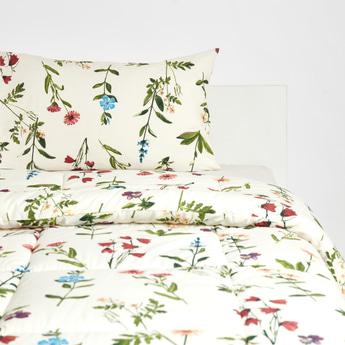 Floral Print 2-Piece Single Comforter Set - 220x160 cms