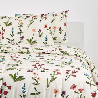 Floral Print 3-Piece King Comforter Set - 230x220 cms