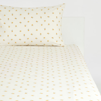 Floral Print 2-Piece Bedding Set - 200x90 cms