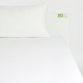 Solid Single Size Fitted Sheet with Elasticated Hem - 200x90 cms