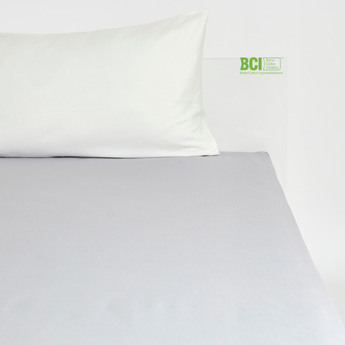 Solid King Fitted Sheet - 200x180 cms