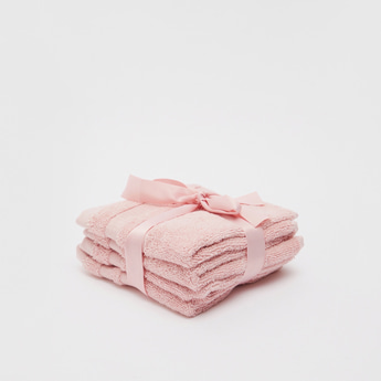 Set of 4 - Solid Air Rich Face Towels