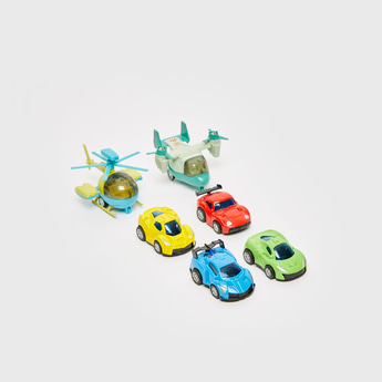 Set of 6 - Assorted Vehicle Toy Set