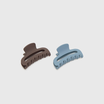 Set of 2 - Solid Hair Clamp with Cut-Out Detail
