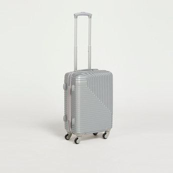 Textured Hardcase Trolley Bag with Retractable Handle and Wheels
