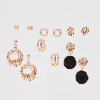Pack of 6 - Metallic Assorted Earrings