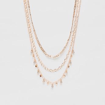 Stone Studded Layered Necklace