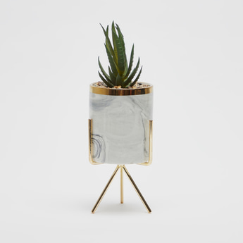 Artificial Potted Plant with Stand