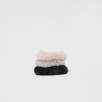 Set of 3 - Plush Elasticated Scrunchie