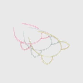 شريطة رأس بتصميم أذن وتزيينات جليتر- طقم من  قطع
