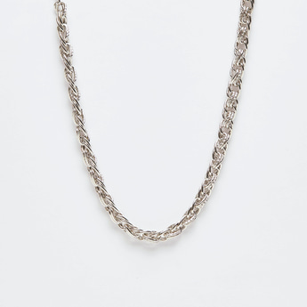 Chain Link Short Necklace with Lobster Clasp Closure