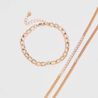 Set of 3 - Assorted Chain Bracelet