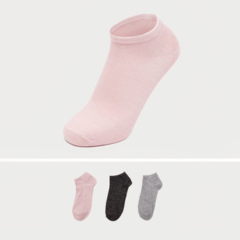 Pack of 3 - Assorted Socks with Ribbed Hem