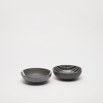 Textured 2-Piece Ceramic Plate