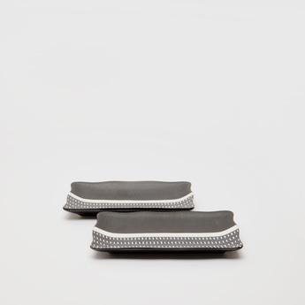 Set of 2 - Textured Ceramic Plate
