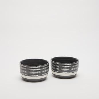 Textured 2-Piece Ceramic Bowl