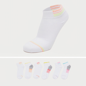 Pack of 6 - Striped Ankle Length Socks
