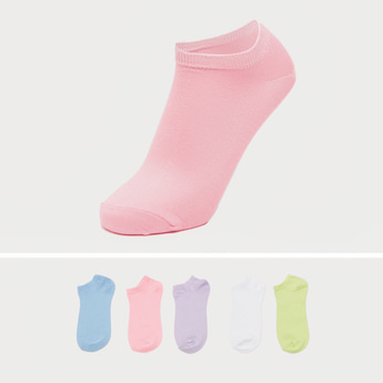 Pack of 5 - Solid Socks with Ribbed Hem