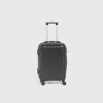 Textured Hardcase Trolley Bag with Retractable Handle and Lock