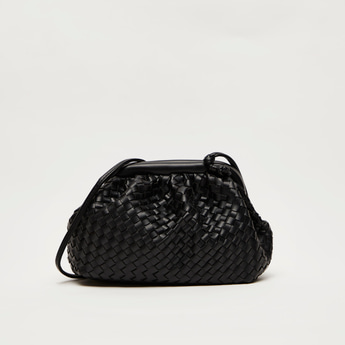 Woven Crossbody Bag with Sling Strap