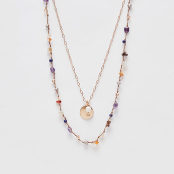 Layered Necklace with Lobster Clasp Closure