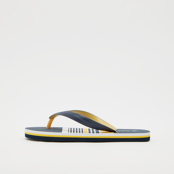 Striped Thong Style Flip-Flops