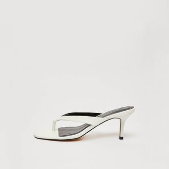 Thong Strap Heeled Sandals