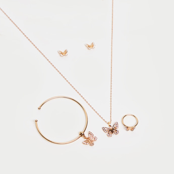 Butterfly Accented 5-Piece Jewellery Set