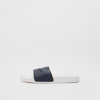 Textured Beach Slippers with Embossed Detail