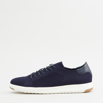 Textured Slip-On Shoes with Lace Detail