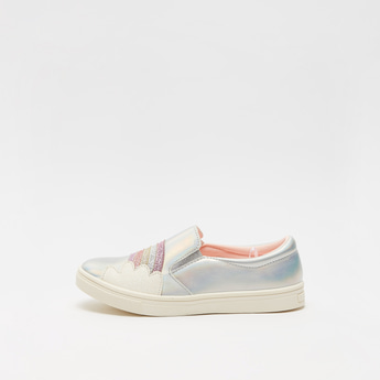 Glitter Accent Slip-On Canvas Shoes
