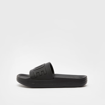 Slogan Embossed Slip On Beach Slippers