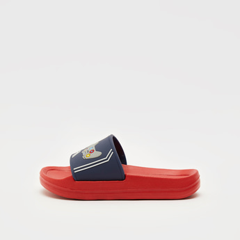 Embossed Detail Slides with Vamp Detail