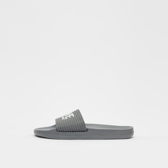 Embossed Print Slides with Textured Strap