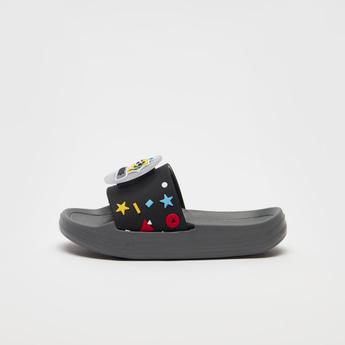 Slip-On Slides with Applique