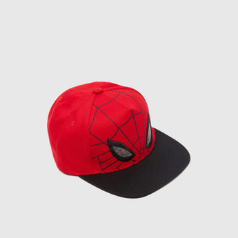 Spider-Man Embroidered Detail Cap with Hook and Loop Closure