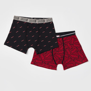 Set of 2 - Marvel Print Trunk with Elasticated Waistband