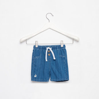 Striped Shorts with Drawstring Closure and Pockets