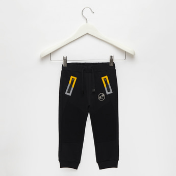 Mid-Rise Joggers with Drawstring Closure and Pockets